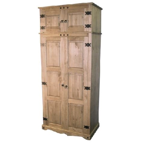 wardrobe top storage boxes mexican pine wardrobe top box 2 door
