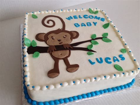 Baby Shower Cakes With Frosting by Monkey Baby Shower Cake Chocolate With Vanilla Buttercream