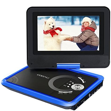 format mp4 dvd player cooau 9 8 portable dvd player with swivel screen 5 hour