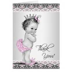 vintage pink princess baby shower thank you cards note card zazzle