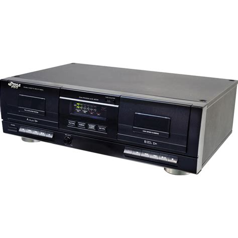 cassette deck pyle pro dual cassette deck with mp3 converter pt659du b h