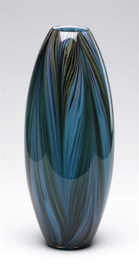 Glass Vases Decor Peacock Feather Glass Vase By Cyan Design