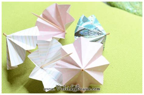 Make A Paper Umbrella - how to make paper drink umbrellas violet lebeaux