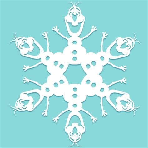 olaf snowflake template printable the great big holiday edition of the best links around the web