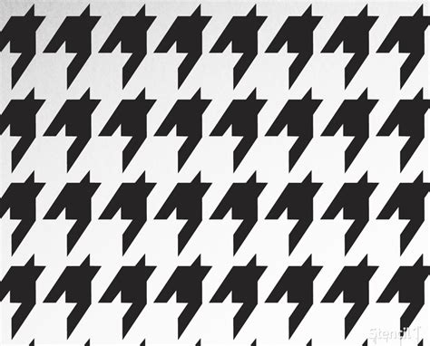 houndstooth repeat pattern stencil 11 x11 stencil1