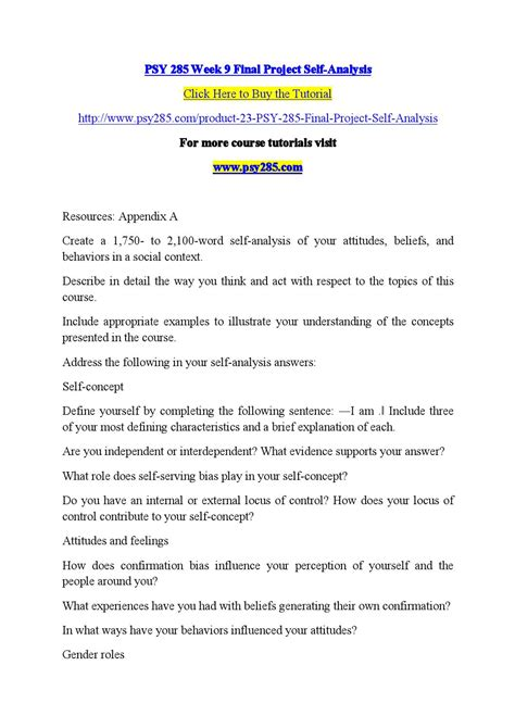 Quote Agreement Letter Psy 285 Week 9 Project Self Analysis Material Psy285dotcom By Like06 Issuu