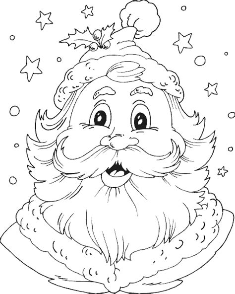 coloring page santa head santa head coloring page coloring com