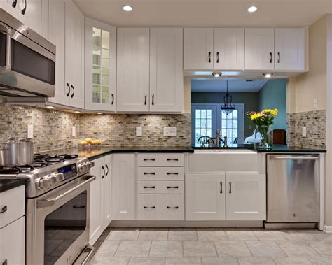 white cabinets black granite what color backsplash brown mahogany wooden cabinet small idea backsplash for
