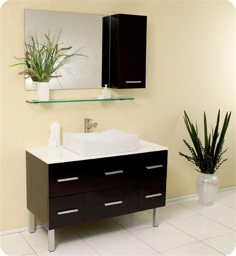 Vanities With Vessel Sinks Single by 43 5 Quot Distante Single Vessel Sink Vanity Espresso