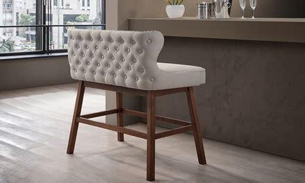 bench n bar tufted fabric bar bench groupon