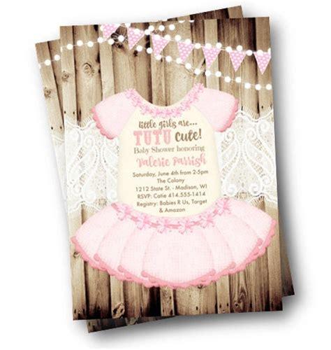 Tutu Baby Shower by Baby Ballerina Tutu Invitations Ideas