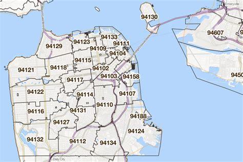 san francisco map with zip codes san francisco county zip code map