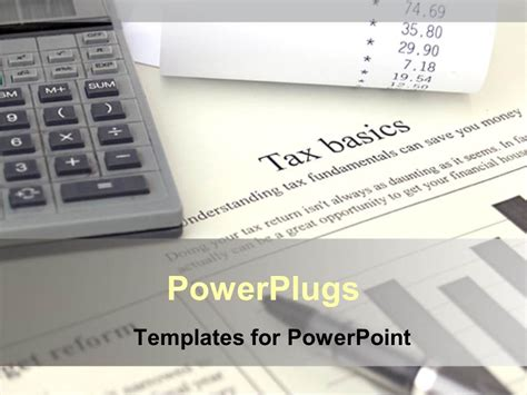 Powerpoint Template Tax Is Calculated With The Calculator Tax Ppt Templates Free