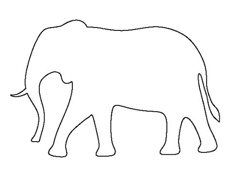 elephant template printable printable elephant template