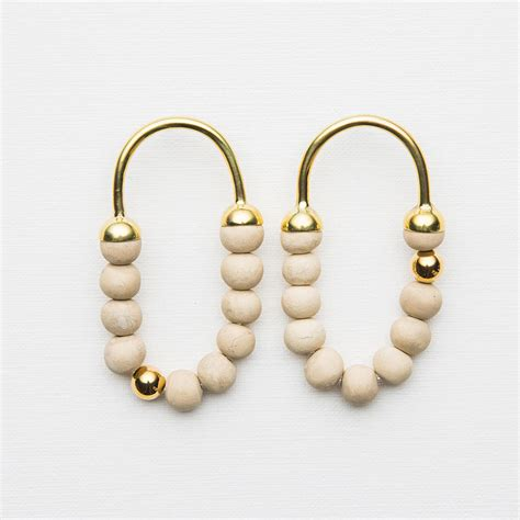 Beaded Hoop beaded hoop earrings quot tembi quot klaylife ahalife