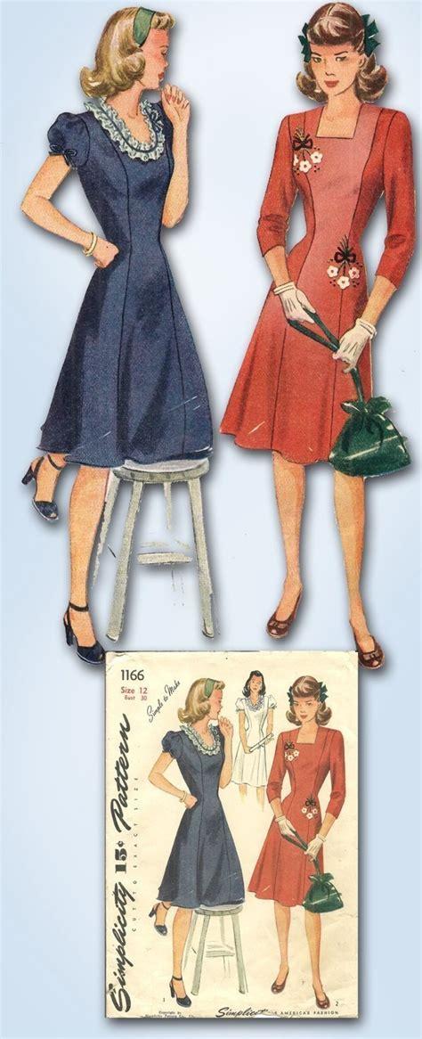 1940s swing dress pattern 1940s original cute wwii swing kid dress pattern simple sz
