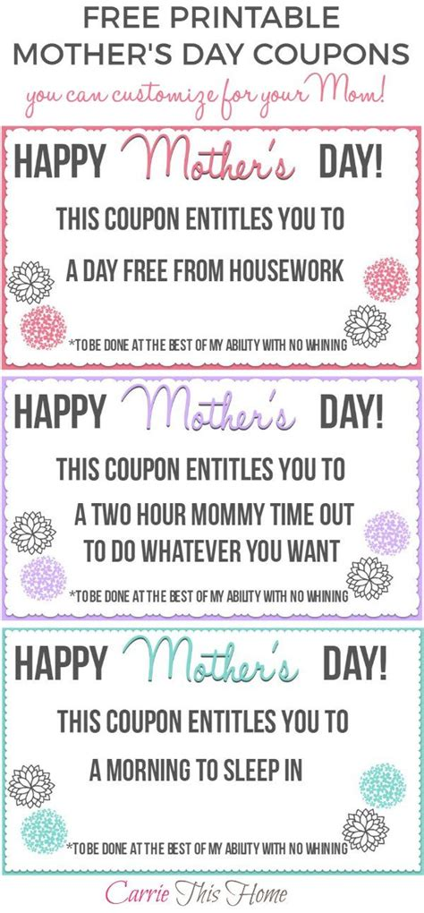 printable mother s day coupon book template free printable mother s day coupons free printable