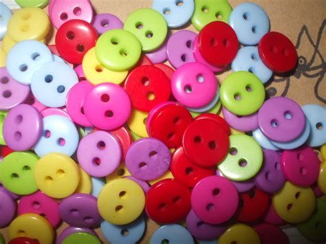 Acrylic Sewing Buttons Scrapbooking 2 Holes 9mm B10472 Kancing 9mm acrylic assorted buttons x 120