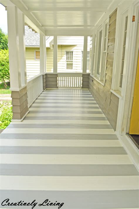 veranda paint color paint your porch with stripes creatively living