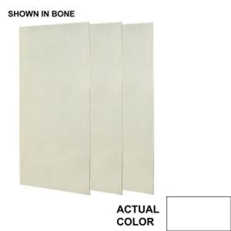 home depot bathroom wall panels swanstone 36 in x 72 in three piece easy up adhesive
