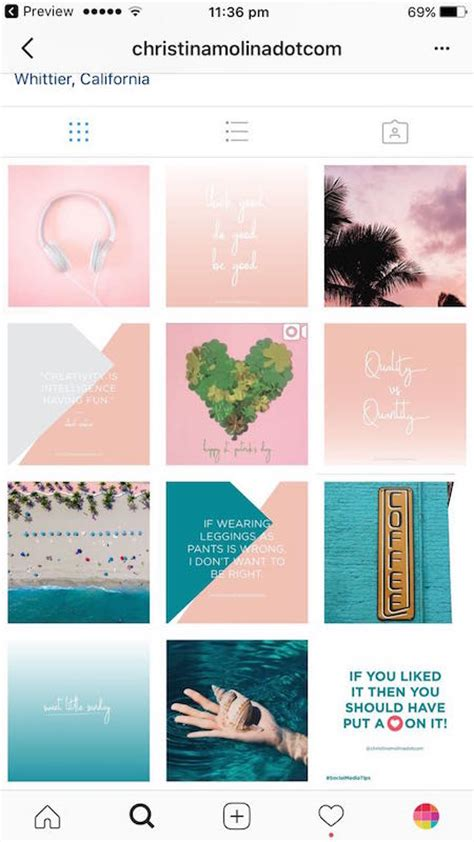 instagram tile layout 7 types of instagram grid layouts planner tips