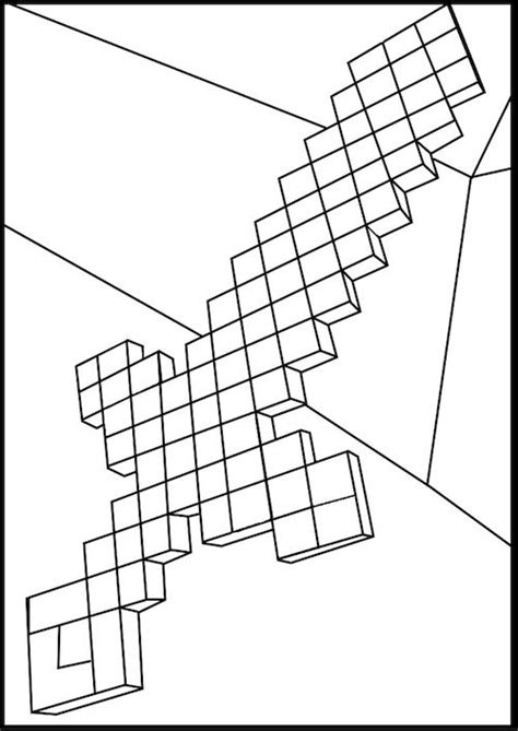 minecraft diamond coloring page minecraft diamond sword coloring pages