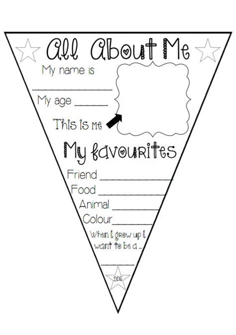 about me template for students this quot all about me quot bunting can be used at the beginning
