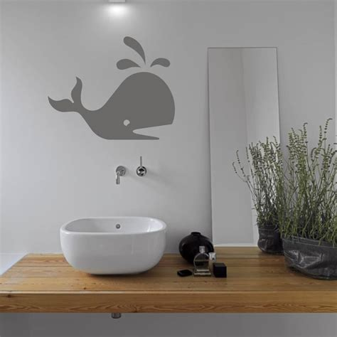 bathroom vinyl wall whale bathroom vinyl wall sticker by mirrorin