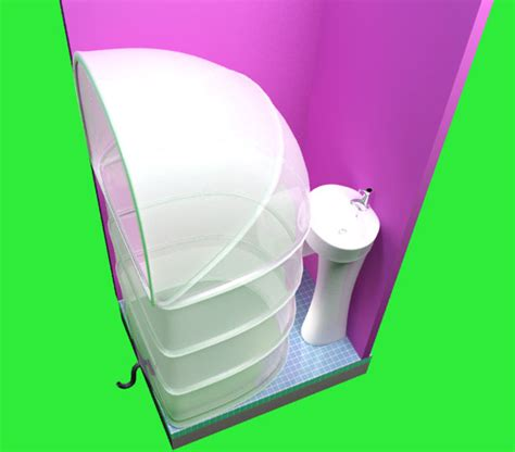 My Rups Folding Shower Concept for Limited Bathroom Space   Tuvie