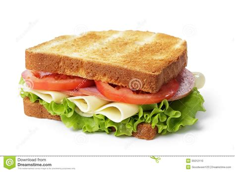 ham cheese sub sandwich sandwich with ham cheese and vegetables stock photo