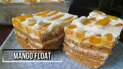 Mango Float 2018 how to make mango float recipe no bake mango float