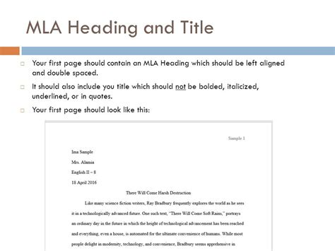 Sample Mla Paper With Headings