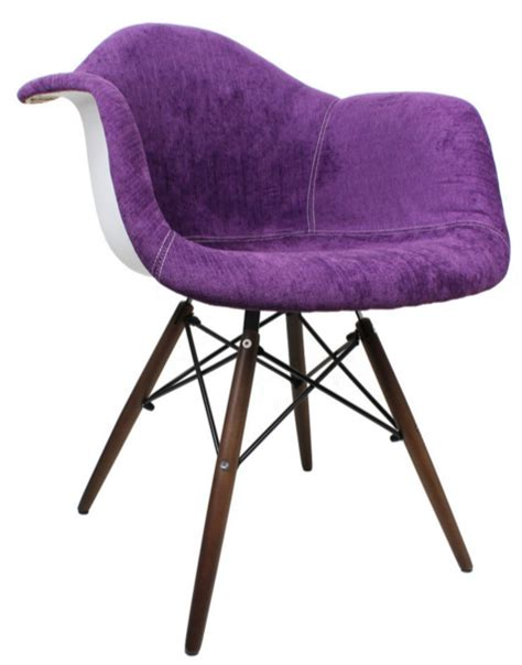 contemporary purple arm chairs   living room
