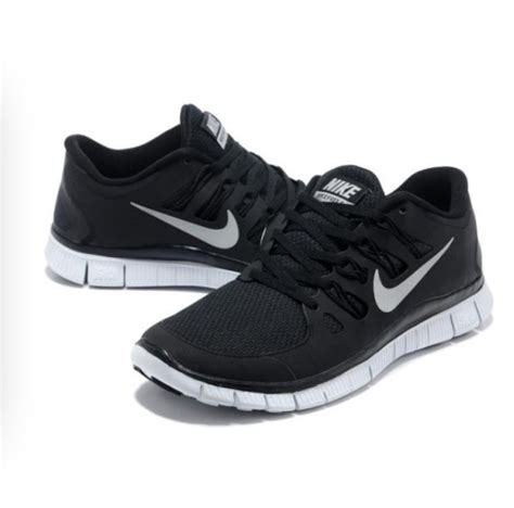 nike free 5 0 womens black and white running shoes