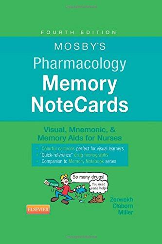 mosby s pharmacology memory notecards visual mnemonic