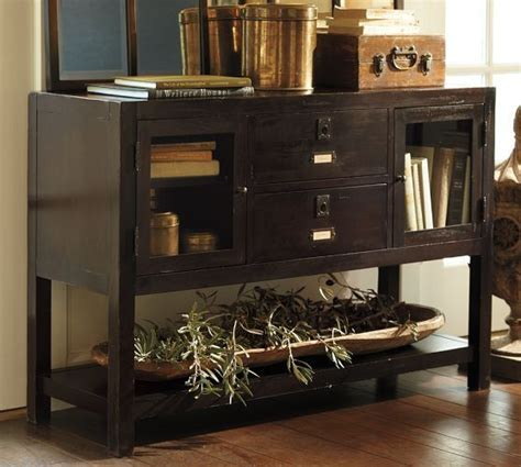 pottery barn media console rhys 1000 images about furnishings on cabinets