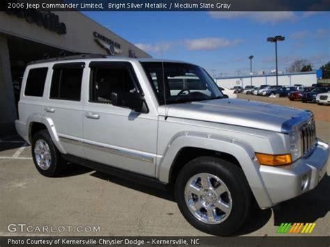 jeep commander silver bright silver metallic 2006 jeep commander limited