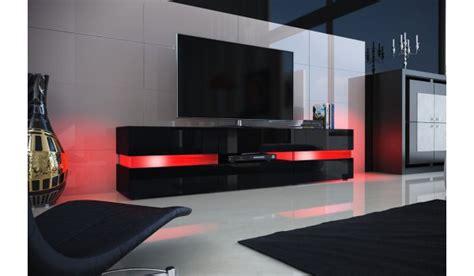 Meuble Tv Design Noir by Meuble Tv Design Noir Laqu 233 201 Clairage Led Pour Salon