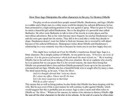 Othello Essay On Iago by Othello Essay Topics Iago