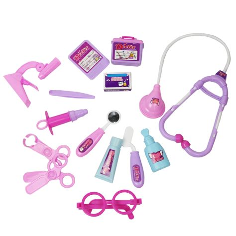 pink toy pink childrens kids role play doctor nurses toy set