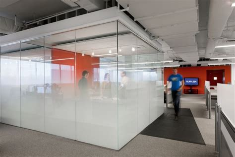 interior glass design cool startup tech office of the week kayak