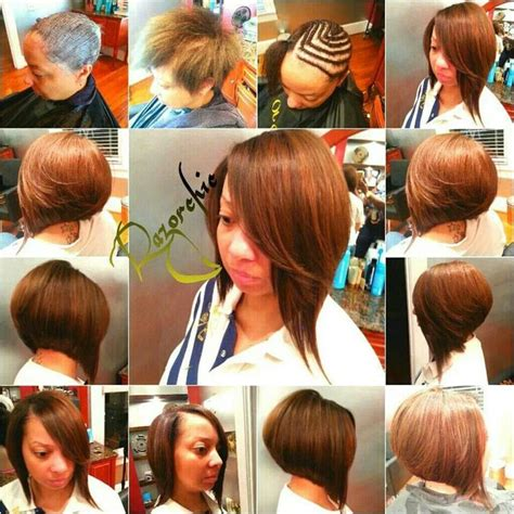 razor cut sew in weave bob style 1000 images about notable hairstyles on pinterest