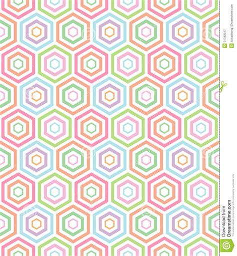 vector pattern pastel free seamless pastel hexa pattern background stock vector