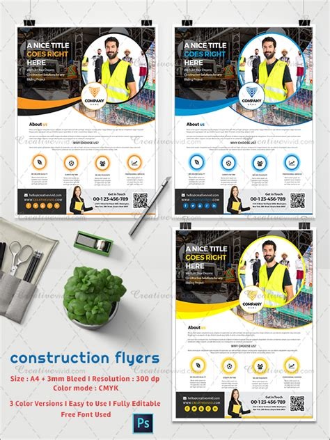 31 Construction Flyer Templates Free Premium Download Attractive Flyer Templates