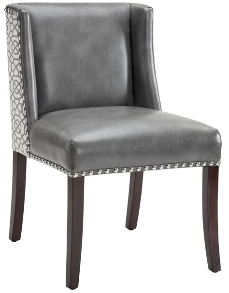 Gray Leather Dining Chairs Gray Leather Dining Chair Maison Leather Dining Chair With Brown Legs Grey Leather Chairs