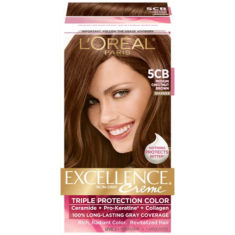 box hair color l oreal 5cb warmer medium chestnut brown hair color 1 kt