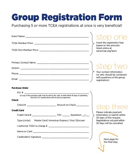12 sle event registration forms sle forms