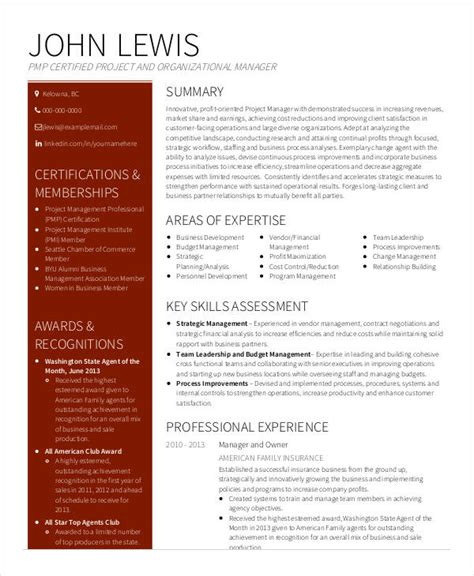 Senior Project Manager Resume by 40 Free Manager Resume Templates Pdf Doc Free