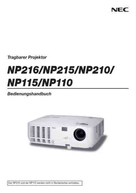 Lu Projector Proyektor Nec Np110 Np115 Np210 Np215 Np13lp Nec Np215 Projector Manual For Free Now 39b6b
