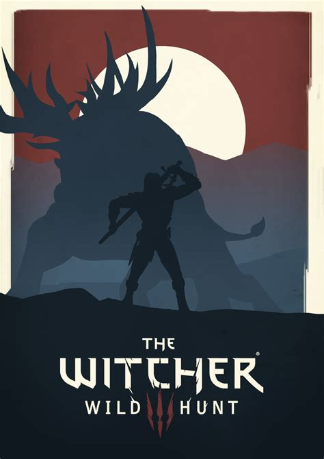 poster the witcher 3 wild hunt by maifou on deviantart